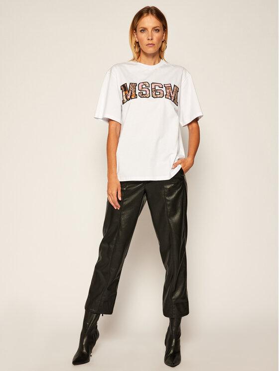 MSGM MSGM T-Shirt 2941MDM97 207798 Bílá Regular Fit