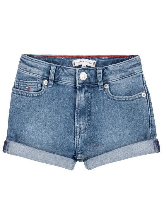 Tommy Hilfiger Tommy Hilfiger Pantaloni scurți de blugi High Rise Shorts Pilblst S KG0KG04710 Albastru Regular Fit