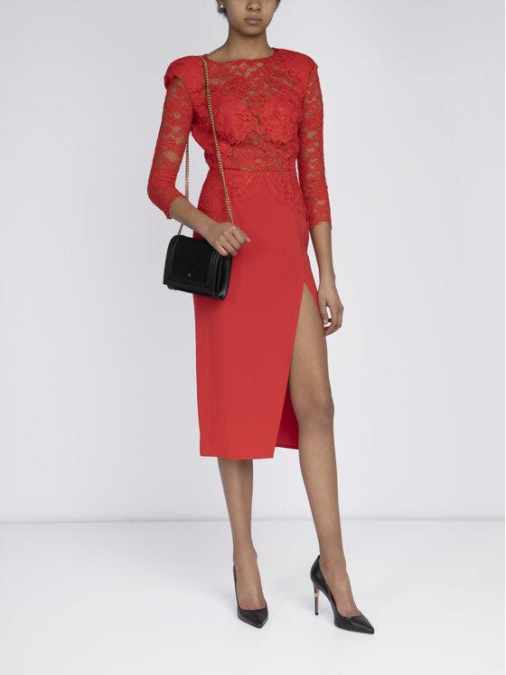 Elisabetta Franchi Elisabetta Franchi Sukienka koktajlowa AB-773-92E2-V369 Czerwony Regular Fit
