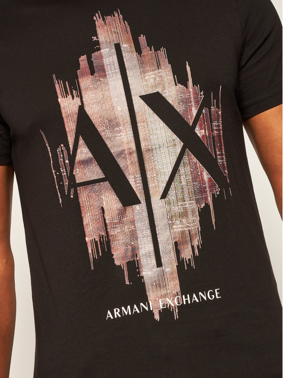 Armani Exchange Armani Exchange T-Shirt 6HZTFG ZJH4Z 1200 Černá Regular Fit