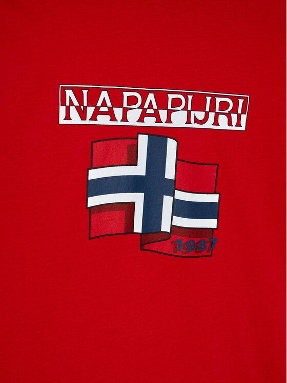 Napapijri Napapijri Bluzka K Sirex Ls NP0A4EQD D Czerwony Regular Fit