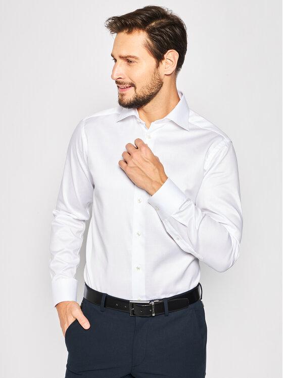 Eton Marškiniai 100000665 Balta Regular Fit