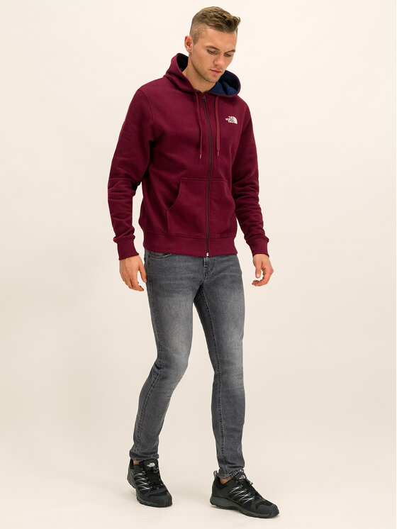 The North Face The North Face Felpa Open Gate Fz Hd NF00CG46HBM Bordeaux Regular Fit