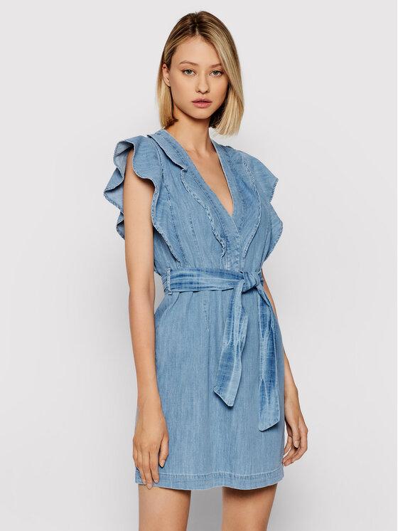 Rinascimento Džinsinė suknelė CFC0103239003 Mėlyna Regular Fit