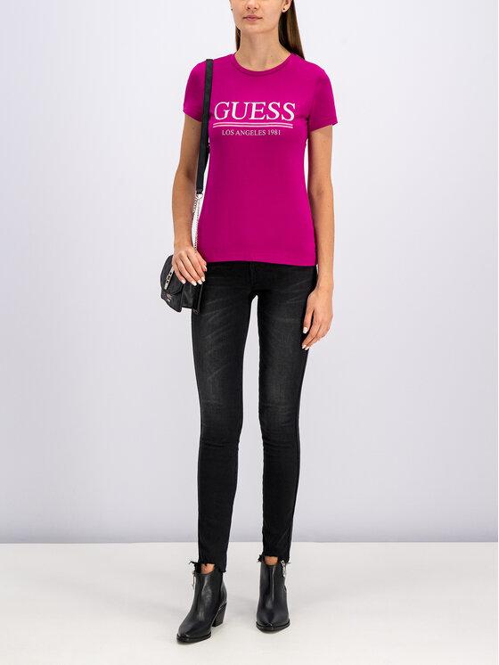 Guess Guess T-shirt W94I20 J1300 Rosa Regular Fit