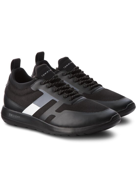TOMMY HILFIGER TOMMY HILFIGER Laisvalaikio batai Technical Material Sock Sneaker FM0FM01703 Juoda