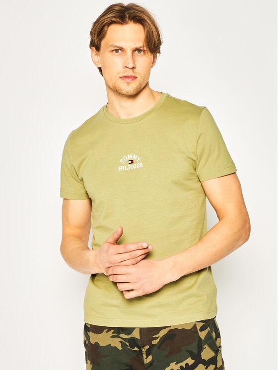 Tommy Hilfiger Tommy Hilfiger T-Shirt Arch Tee MW0MW13756 Zielony Regular Fit