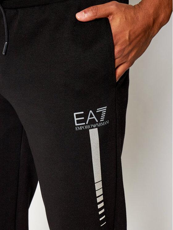 EA7 Emporio Armani EA7 Emporio Armani Spodnie dresowe 6HPP78 PJ8NZ 1200 Czarny Regular Fit