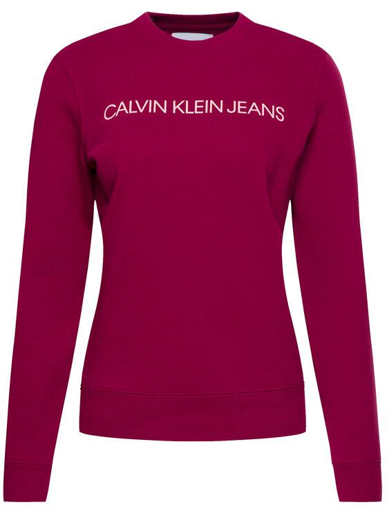 Calvin Klein Jeans Calvin Klein Jeans Mikina Institutional J20J212583 Bordová Regular Fit