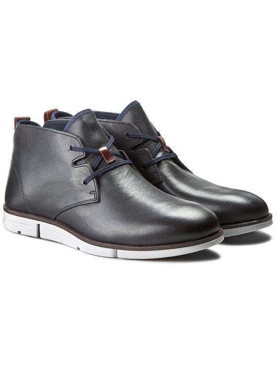 Clarks Clarks Kotníková obuv Trigen Mid 261198467 Tmavomodrá