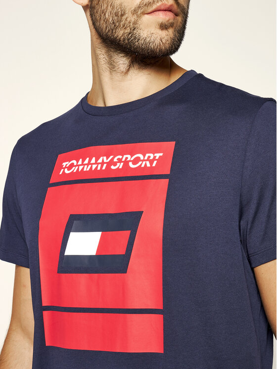 Tommy Sport Tommy Sport T-shirt Graphic S20S200193 Bleu marine Regular Fit