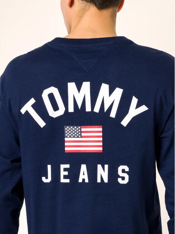 Tommy Jeans Tommy Jeans S dlouhým rukávem US Flag DM0DM07066 Tmavomodrá Regular Fit