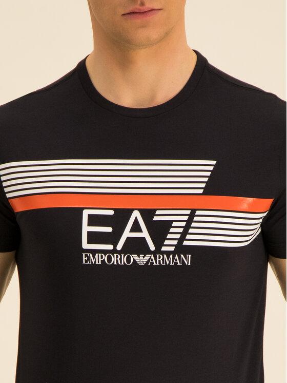 EA7 Emporio Armani EA7 Emporio Armani Tričko 3HPT34 PJ02Z 1200 Čierna Regular Fit