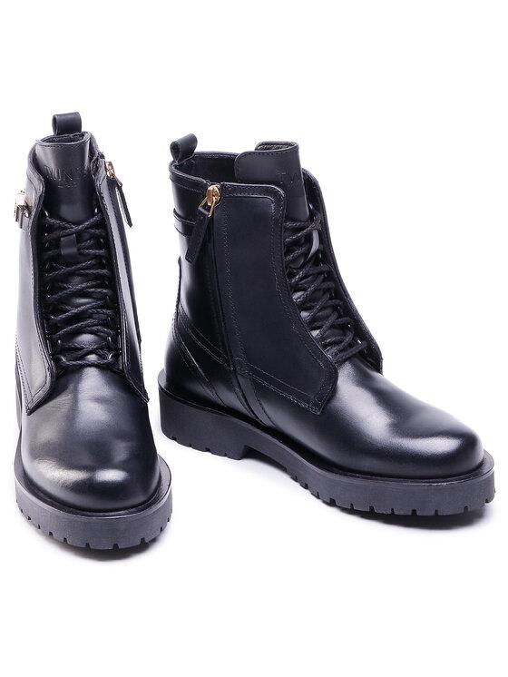 TwinSet TwinSet Outdoorová obuv Anfibio 202TCP03E Čierna