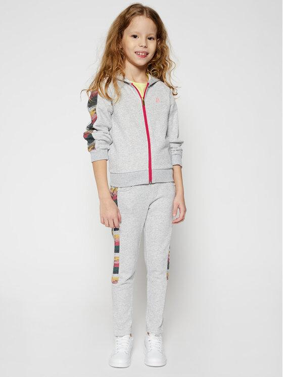 Billieblush Billieblush Spodnie dresowe U14387 Szary Regular Fit
