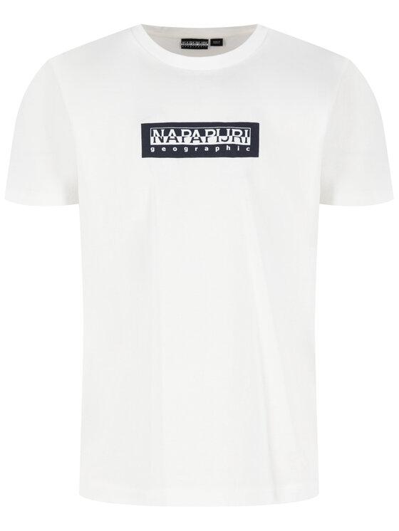 Napapijri Napapijri Marškinėliai Sox NP0A4EG9 Balta Regular Fit