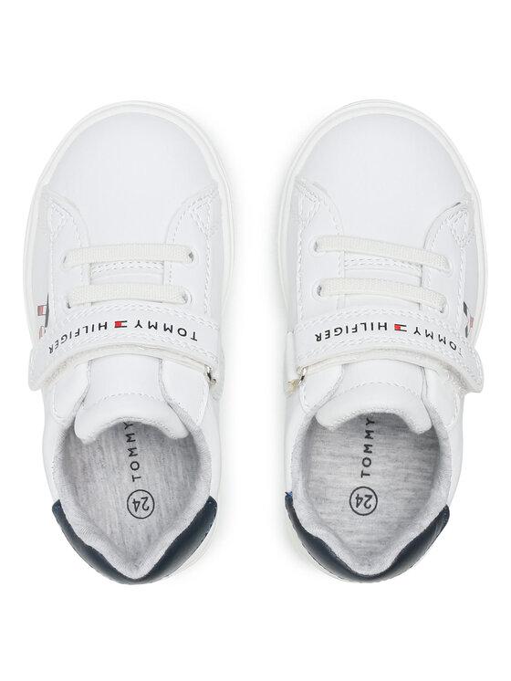 Tommy Hilfiger Tommy Hilfiger Sneakersy Low Cut Lace-Up T1B4-31075-0742X336 S Biały