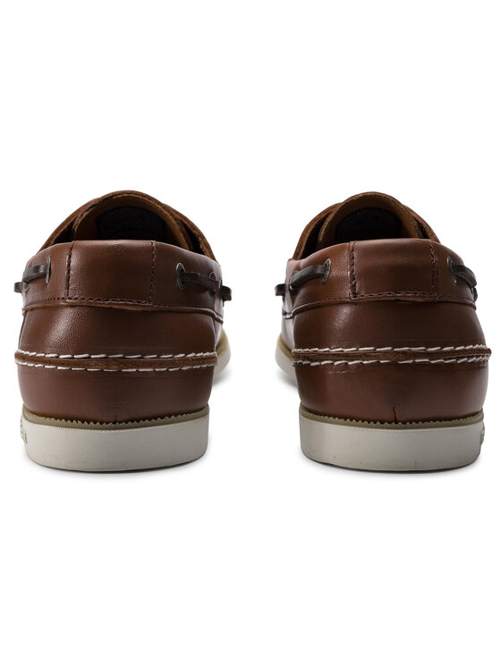 TOMMY HILFIGER TOMMY HILFIGER Мокасини Classic Leather Boatshoe FM0FM02102 Кафяв