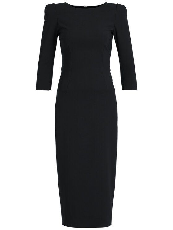Elisabetta Franchi Elisabetta Franchi Sukienka koktajlowa AB-940-96E2-V349 Czarny Slim Fit