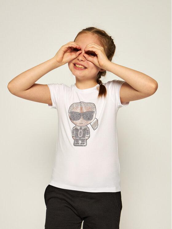 KARL LAGERFELD KARL LAGERFELD T-Shirt Z15253 S Biały Regular Fit