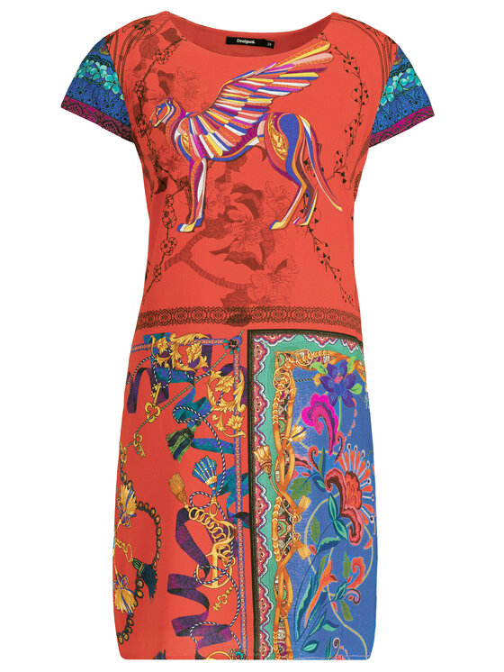 Desigual Desigual Sukienka letnia Koda 19SWVWBM Kolorowy Regular Fit