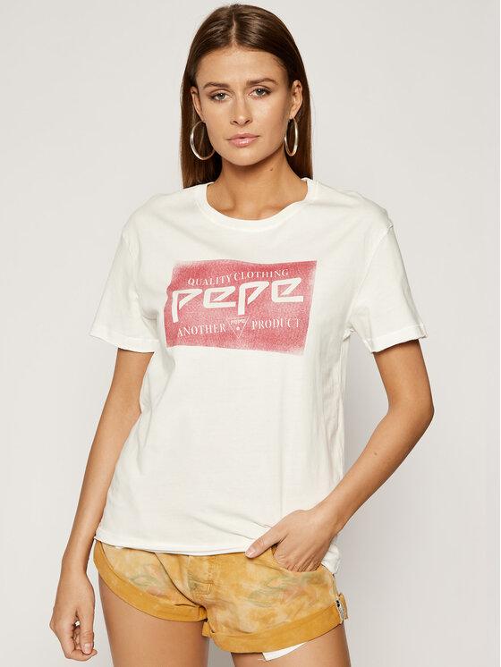 Pepe Jeans Pepe Jeans T-Shirt Morgane PL504284 Λευκό Regular Fit