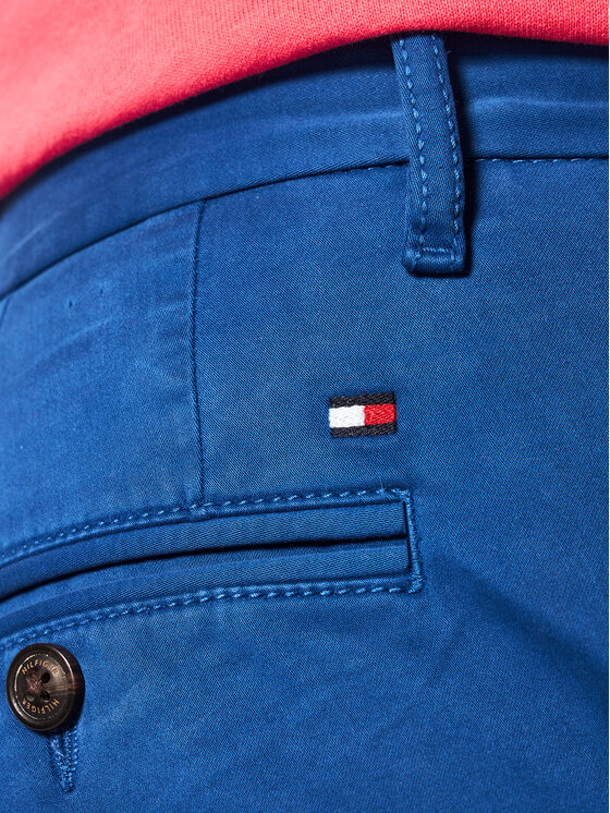 Tommy Hilfiger Tommy Hilfiger Παντελόνι υφασμάτινο MW0MW10888 Σκούρο μπλε Regular Fit