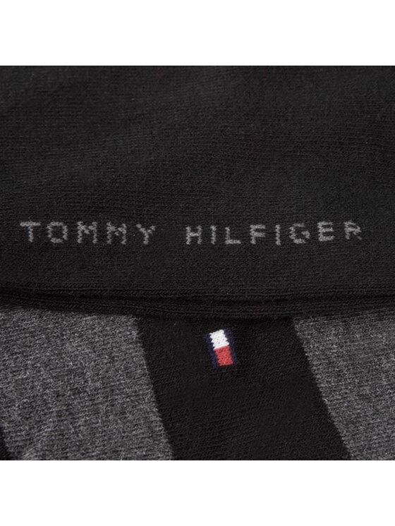 Tommy Hilfiger Tommy Hilfiger Zestaw 2 par wysokich skarpet męskich 412009001 200 Black Czarny