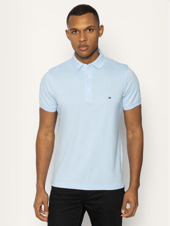 Tommy Hilfiger Tommy Hilfiger Polo marškinėliai MW0MW10764 Mėlyna Slim Fit