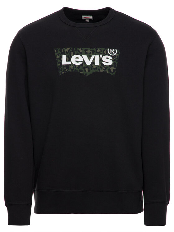 Levi's Levi's Džemperis Graphic Crew 17895-0090 Juoda Regular Fit