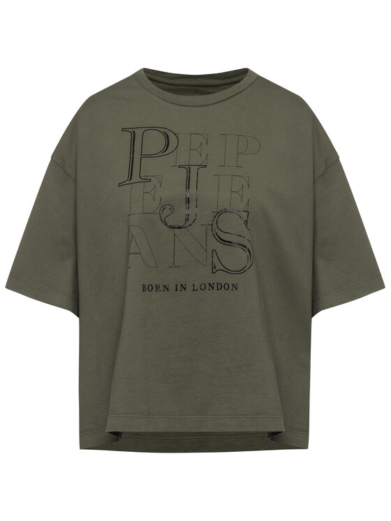 Pepe Jeans Pepe Jeans T-Shirt Catherine PL504356 Zelená Loose Fit