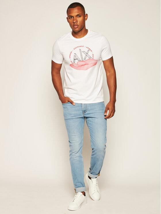 Armani Exchange Armani Exchange T-Shirt 6HZTAN ZJN7Z 1100 Bílá Slim Fit