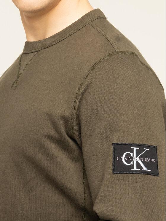 Calvin Klein Jeans Calvin Klein Jeans Mikina Monogram J30J314035 Zelená Regular Fit