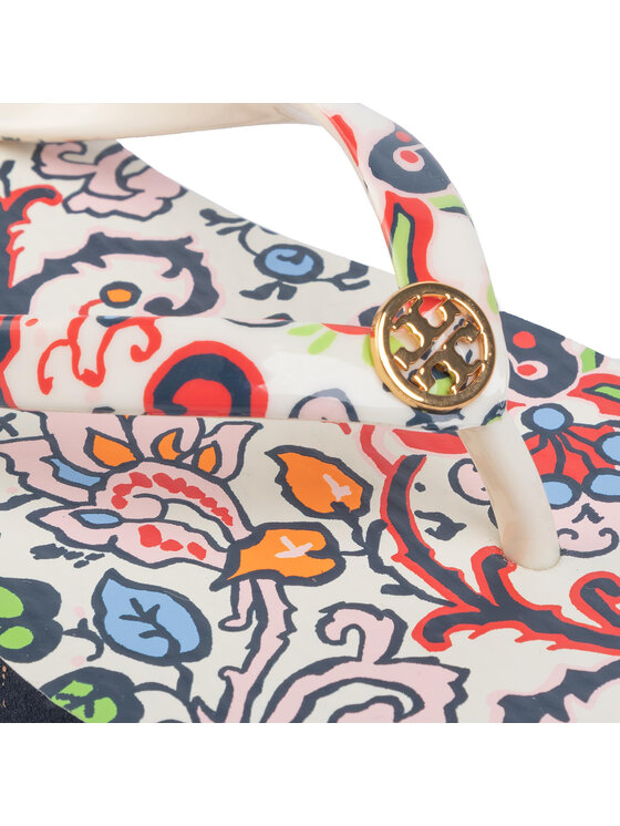 Tory Burch Tory Burch Infradito Printed Thin Flip Flop 60420 Bianco