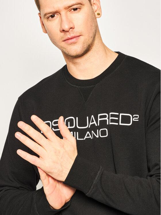 Dsquared2 Dsquared2 Džemperis Milano Crewneck Sweatshirt S74GU0399.S25305 Juoda Regular Fit