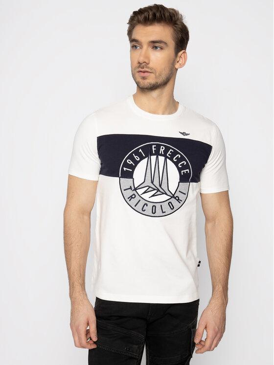 Aeronautica Militare Aeronautica Militare T-Shirt 201TS1698J469 Biały Regular Fit