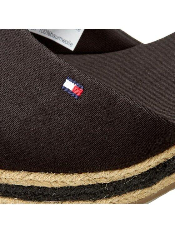TOMMY HILFIGER TOMMY HILFIGER Espadrilky Elba 18D FW56820633 Černá
