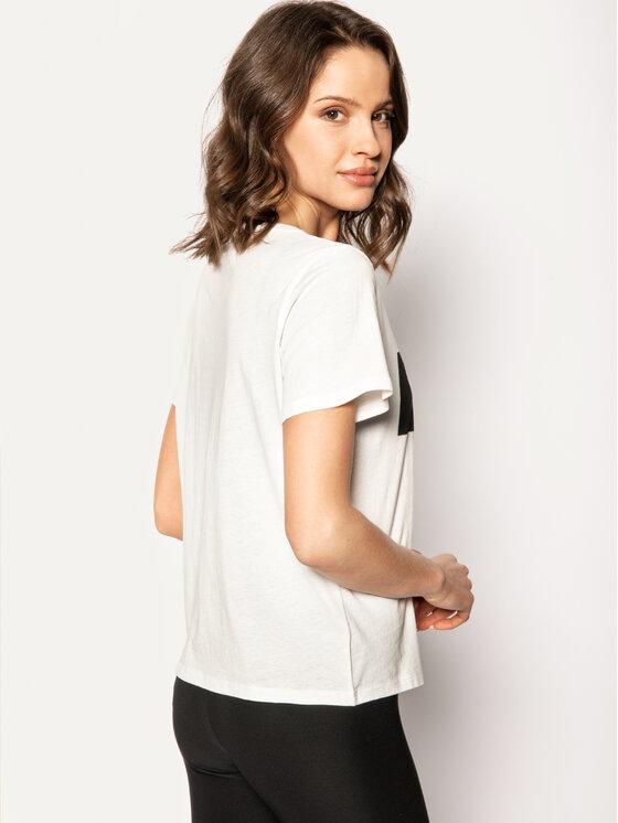 Wrangler Wrangler T-Shirt Logo Tee W7P3EVX02 Bílá Regular Fit