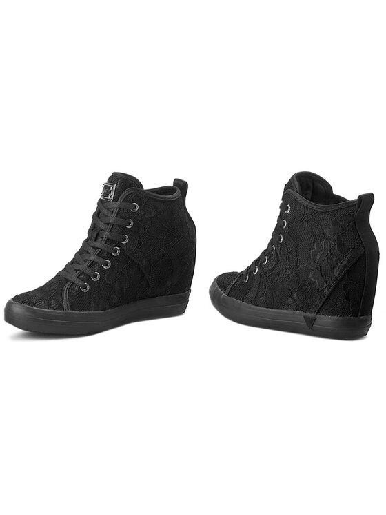 Guess Guess Sneakersy Jilly FLJIL3 SAT12 Čierna