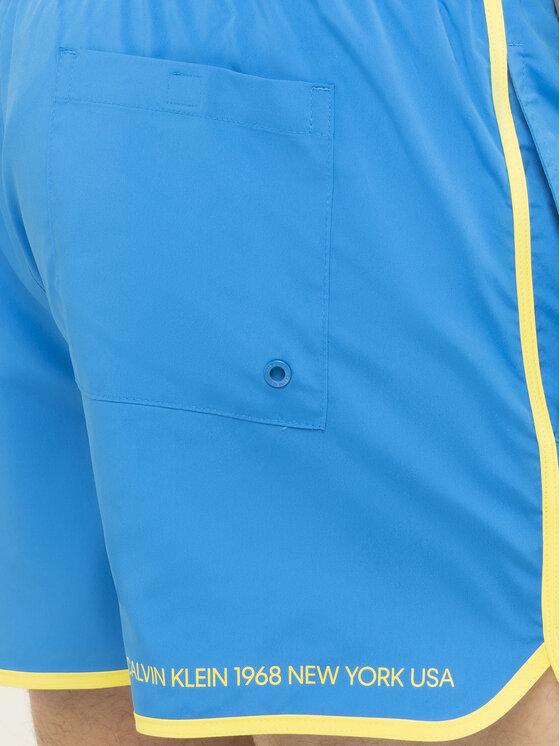Calvin Klein Swimwear Calvin Klein Swimwear Short de bain KM0KM00389 Bleu Regular Fit