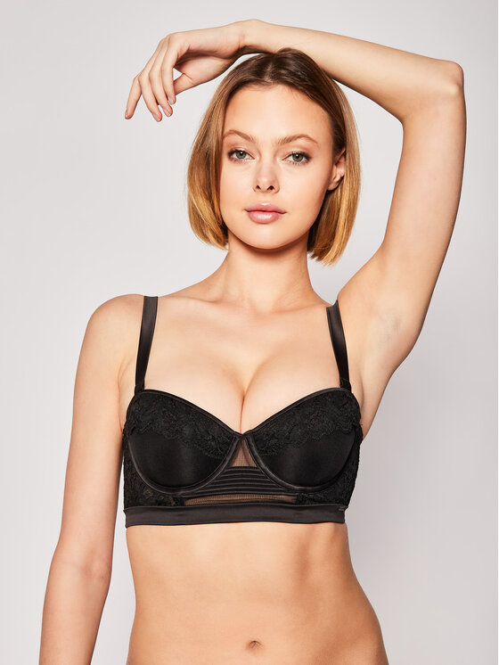 Calvin Klein Underwear Bardotė liemenėlė 000QF5899E Juoda
