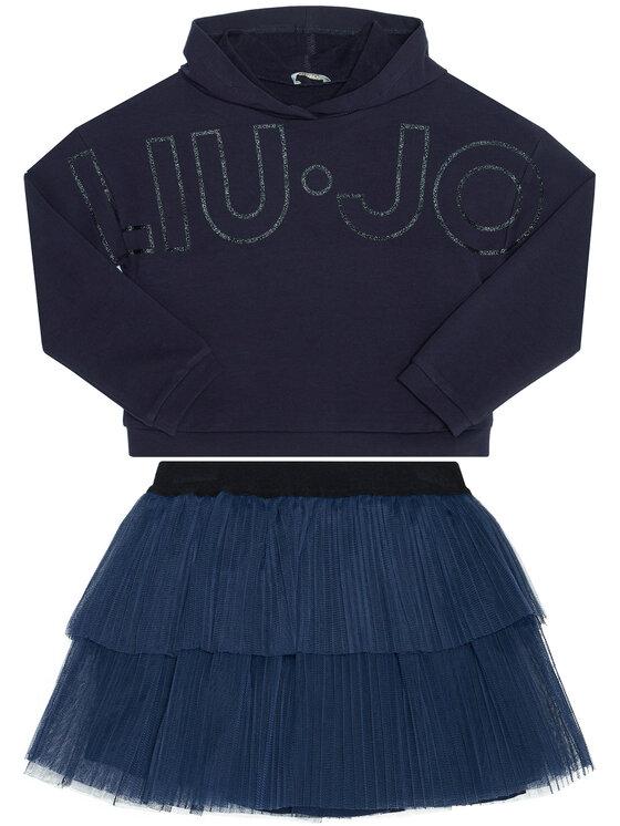 Liu Jo Kids komplet_bluza_i_spodniczka KF0039 F0090 Rožinė Regular Fit