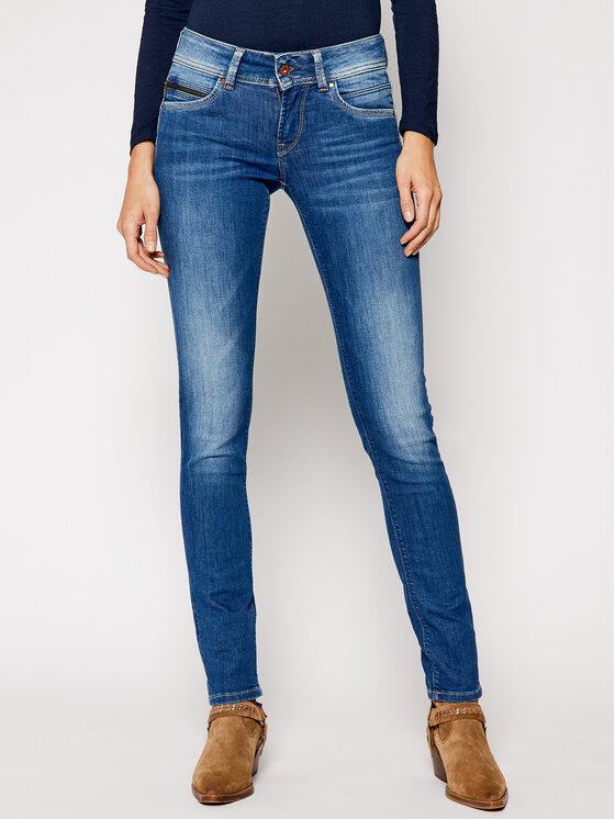 Pepe Jeans Pepe Jeans Jeansy Slim Fit PL200019D452 Niebieski Slim Fit