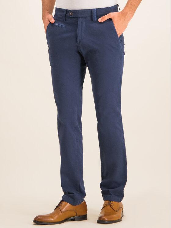 Digel Digel Spodnie materiałowe 88140 Granatowy Regular Fit