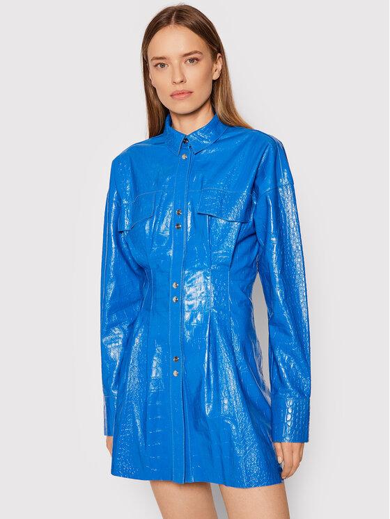 Remain Odinė striukė Daphne RM372 Mėlyna Slim Fit