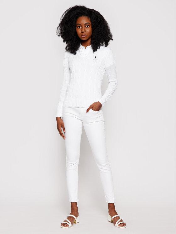 Polo Ralph Lauren Polo Ralph Lauren Sweter Kimberly 211580008005 Biały Regular Fit