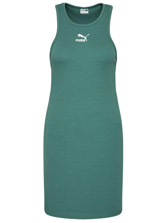 Puma Puma Haljina za svaki dan Classics Summer 599591 Zelena Regular Fit
