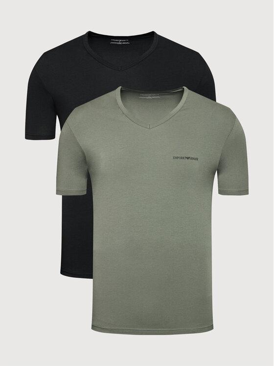 Emporio Armani Underwear 2 marškinėlių komplektas 111849 1A717 06621 Juoda Regular Fit