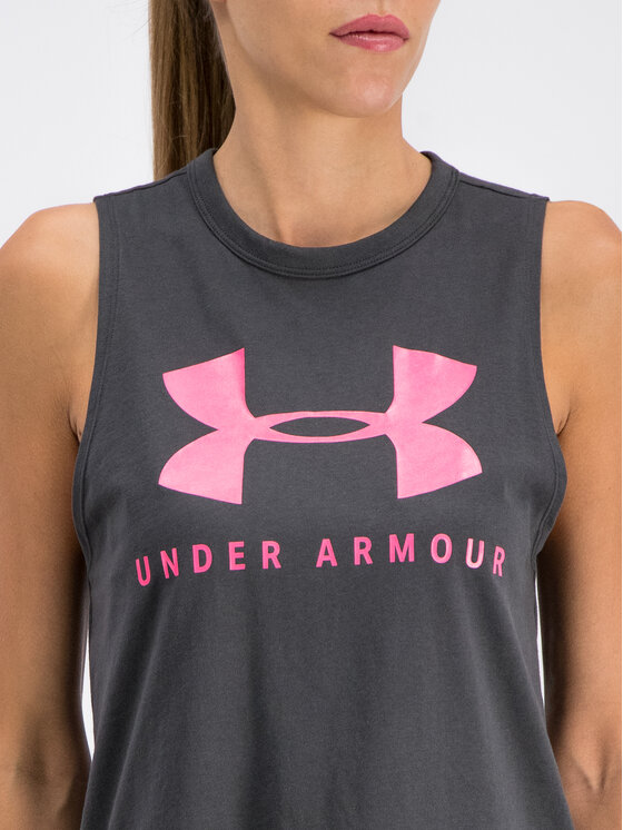 Under Armour Under Armour Top UA Sportstyle Graphic Muscle 1344150 Szary Regular Fit