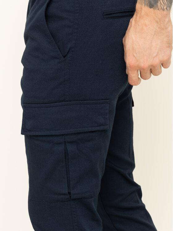 Tommy Hilfiger Tommy Hilfiger Spodnie materiałowe Bleecker Cargo MW0MW12593 Granatowy Slim Fit